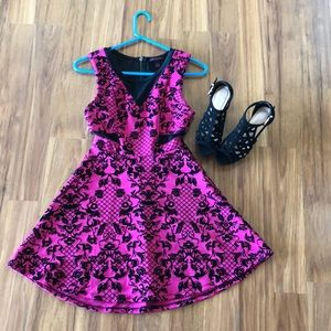 Small Material Girl Pink Fit and Flare Dress